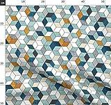 geometrisch, geometrisch, Leinen, Maserung, hexagonal,