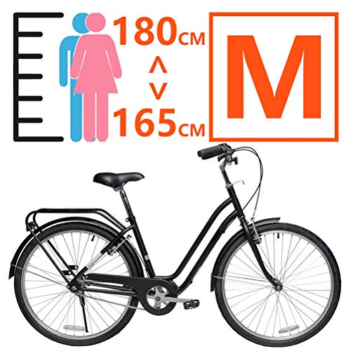 MC.PIG Mens Women City Bicycle-26 Inch Single Speed Commuter City Bike Recreational Mobility Bikes for Men and Women for City Riding and Commuting, Includes Pump (Size : M)