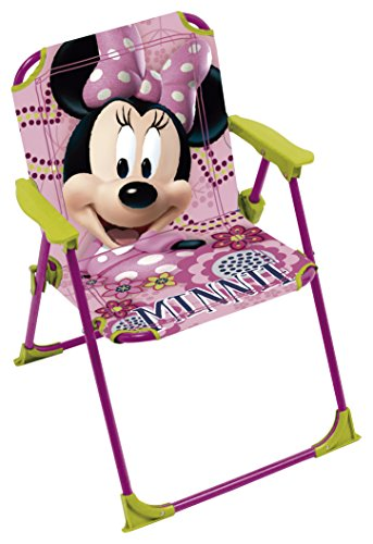 ARDITEX–009448–Klappstuhl für Kinder–Minnie Mouse Maße–Garten Camping Haus–38x 32x 53cm