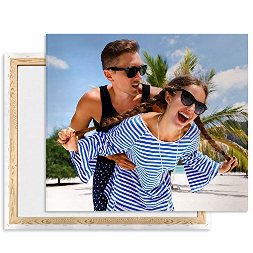 Fai Stampare Le tue Foto su Tela, stampa su Tela 60 x 80 cm Personalizzata, Foto da Parete, Quadri su Tela Come Regalo, Regali fotografici Verticale [128]