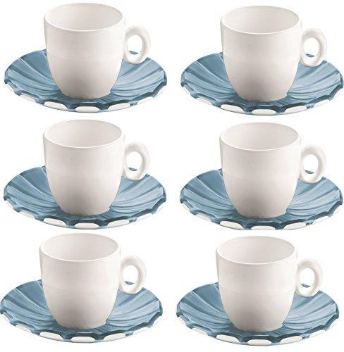 Guzzini 8008392271192 Grace - Juego de 6 tazas de café