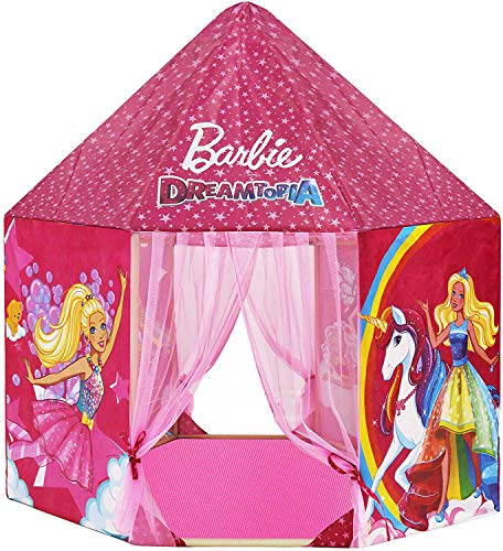 Webby Barbie Kids Indoor and Outdoor Castle Play Tent House