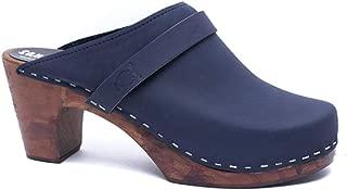 Sandgrens Swedish Clog Mules High Rise Wooden Heel for Women | Maya