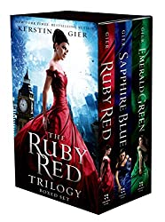 book covers for ruby red trilogy, books set in different countries