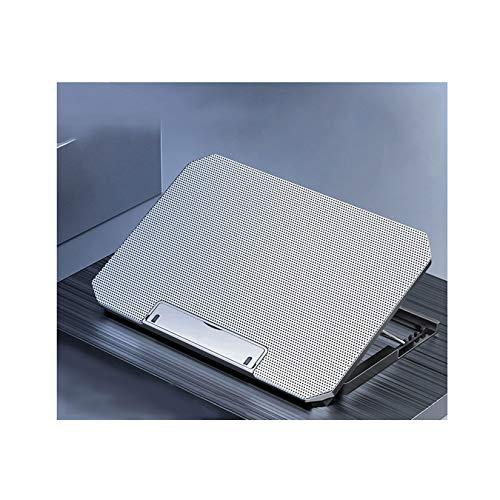 LORIEL Enfriador para Computadora Portátil, Almohadilla De Enfriamiento para Computadora Portátil con 2 Puertos USB Y 2 Ventiladores, para Soporte Ajustable para Computadora Portátil De 12-16,Plata