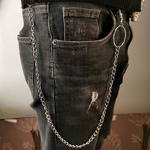 SZLGPJ Hose Kette für Frauen Männer Metall Brieftasche GürtelKette Hipster Schlüsselanhänger Hose Schlüsselanhänger 2-layerGold