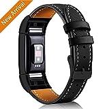 Mornex Bracelet Compatible Fitbit Charge 2 en Cuir,Bande de Remplacement Réglable...