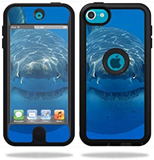 MightySkins Skin Compatible with OtterBox Defender Apple iPod Touch 5G 5th Generation Case Shark