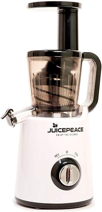 Estrattore di succo a freddo silenzioso, compatto, bpa free a 32 giri/minuto (bianco) juicepeace siquri B07WVR3HKQ