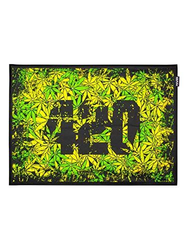 PSYWORK Schwarzlicht Stoffposter Neon 420