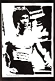 Bruce Lee Poster Plakat Handmade Graffiti Street Art -
