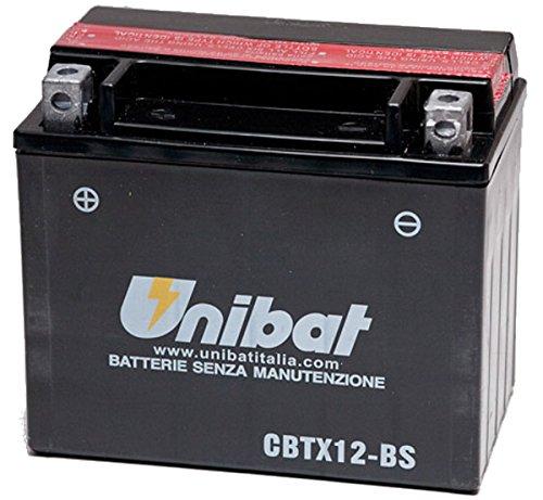 MIM Distribution Batteria UNIBAT YTX12-BS 12 V 10 AH per Suzuki DL V-Strom 650 2004/2011 per Suzuki-V-Strom 650 DL dal 2004 Fino al 2011