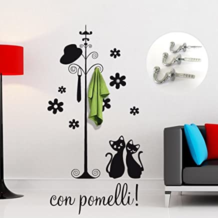 Appendiabiti Sticker vestiti donna per camera wall stickers ...