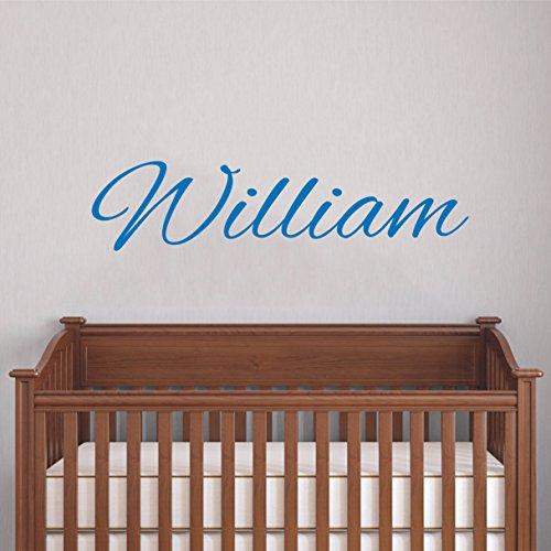 Calcomanía de pared con nombre personalizado – Nombre del bebé – Calcomanía de pared para niños – Calcomanía de pared con nombre de niña – Vinilo para pared con nombre