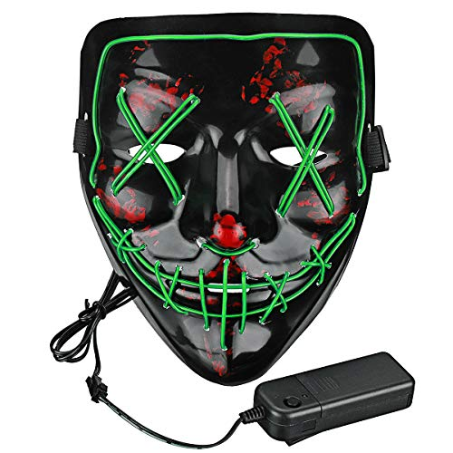 Lumiere Halloween Scary LED Purge Mask for...