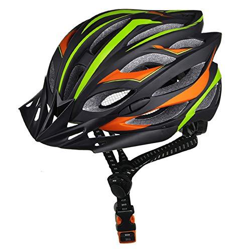 Casco Bicicleta Yuan Ou Casco de Ciclismo Ultraligero Profesional EPS + PC Casco de Bicicleta de Carretera Casco de Bicicleta de Molde Integral Negro Verde