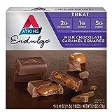 Atkins Milk Choco Caramel Squares. Delicious Low-Sugar Treats with Choco and Caramel. (15 Pieces) by Atkins