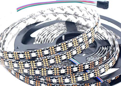 APA102 Geführtes Streifen-Lichter Wasserdichtes IP65 60LEDs / m 5M 16.4Ft DC 5V Adressierbares Pixel RGB Buntes LED-Streifen-Schwarzes PCB