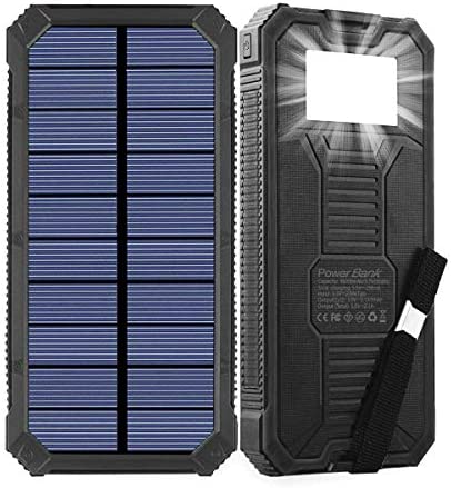 Solar Charger Friengood 15000mAh Portable Solar Power Bank with Dual USB Output Ports Solar product image