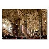 CALVENDO Premium Textil-Leinwand 90 x 60 cm Quer-Format Kirchenschiff im Hieronymus-Kloster, Leinwanddruck von Olaf Bruhn
