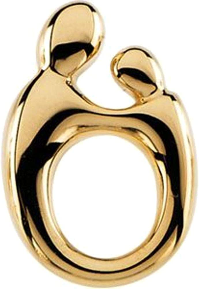 14k Yellow Gold Mother Child SIZE Classic PETITE Pendant SMALL Max 86% OFF