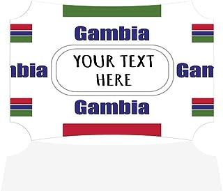 Sign Destination Aluminum Metal Wall Décor Custom Gambia Country Flag Pattern Photo Print Wall Art - Berlin Shape, 7