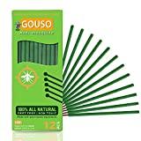 Gouso Mosquito Repellent Incense Sticks – DEET Free Bug Repellent Made with Natural Based Essential Oils: Citronella, Rosemary, Lemongrass Plant Oil Insect Repellent for Anti Mosquito Outdoor - 12Pcs