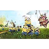CQDSQN 3D Wandaufkleber Cartoon Comic gelben Bösewicht Tapete PVC Selbstklebend Wandgemälde Fitnessstudio Yoga Studio Tierhandlung Verein Film Spiel Thema Modern Wandkunst Hintergrund D(B)500x(H)375cm