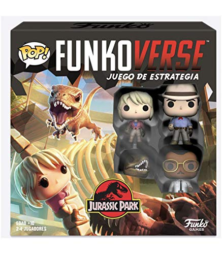 Funko- Pop Funkoverse 100-Base (Spanish) Jurassic Park Board Game, Multicolor (47122)