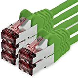1CONN Cable de Red Cat6 0,15m Verde - 5 x Cable de conexión LAN Cat 6 Cable de Red LAN Sftp Pimf Lszh Cobre 1000 Mbit s