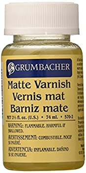 Grumbacher Matte Final Varnish for Oil Paintings 2-1/2 Oz Jar #5702