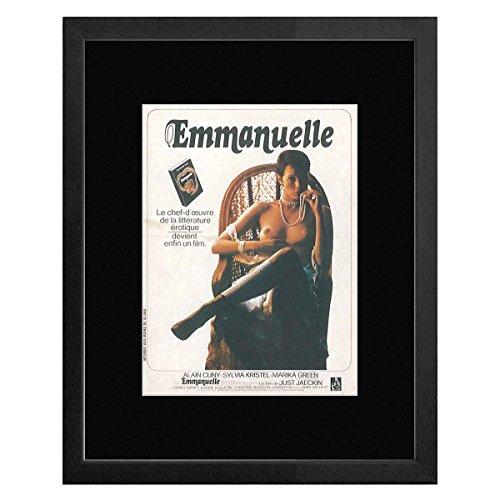 Stick It On Your Wall Emmanuelle–EIN Film von Just Jaeckin gerahmtes Mini Poster–22,7x 17,5cm