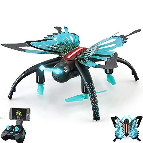 PUKEFNU Mini Quadcopter Drohnen mit HD-Kameras, FPV Beauty-Funktionen Echtzeit-Übertragung Licht Höhe hält einen Butten Rückkehr nach Hause Mädchen Geschenken LED