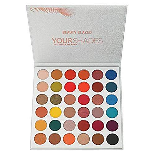 Beauty Glazed Matt und Schimmer 36 Farben Lidschatten-Palette Professionelle Perle Matte Farbe Make-up Disk Farbe Schönheit Make-up Lidschatten
