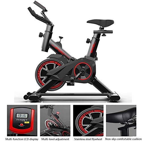 DKDYBR Bicicleta Estática Bicicleta Hogar, LCD Ajuste de Resistencia Multinivel Antideslizante Cojín Cómodo Sala de Deportes Equipo Ejercicios para Bajar Peso