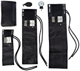 Prestige Medical - 882-COM-BLK 3-in-1 Aneroid Sphygmomanometer Set With Carry Case, Black