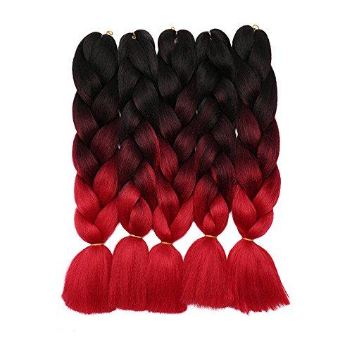 Braids Extensions Jumbo Kunsthaar Flechten Hair Extensions Haar Kanekalon Colorful 5pcs-24