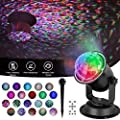 Zeonetak Ocean Wave Night Light Projector, Colorful Automatically Moving Waterproof LED Projector Lamp Remote Control Timer Sleep Soothing Baby Room Holiday Projector for Home Party Wedding Decoration