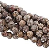 Perlas de jaspe natural Maifan, 6 mm, grado A, 18 unidades, G726