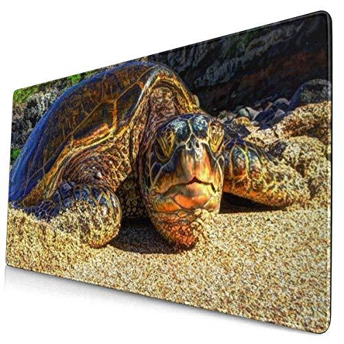Computerspiel Mauspad Beach Wildlife Turtle Großes Mousepad Tastatur Gummi rutschfeste Schreibtischabdeckung Mauspad
