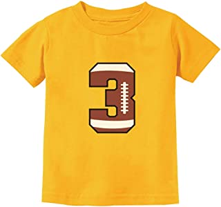 Gift for 3 Year Old 3rd Birthday Football Toddler Kids T-Shirt