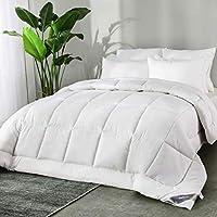 Bedsure Edredón Nórdico Relleno Cama 80 Entretiempo - 135x200 cm Blanco, 300 gr/m² de Fibra Suave y Antiácaro, Reversible y Moderno