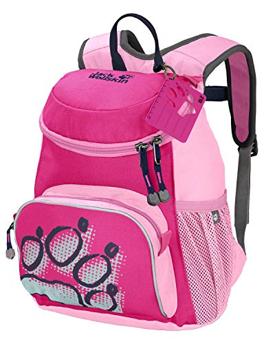 Jack Wolfskin Kinder LITTLE JOE bequemer Kinderrucksack, pink Peony, ONE SIZE