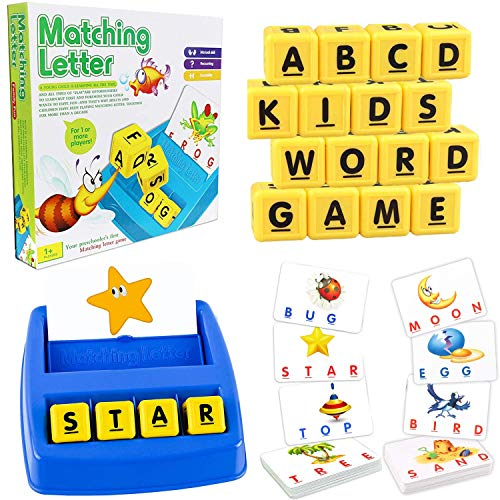 YOHE Matching Letter Game,Gifts Toys for 2-9 Year Old Girls Boys,Literacy Fun Game for Kids,Educational Toy Age 2 3 4...