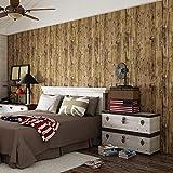 JZ·HOME1303 Wood Texture Wallpaper Rolls, Gray/Tan Faux Wood Plank Wallpaper Home Kitchen Bedroom Living Room Decoration 20.8' x 31ft