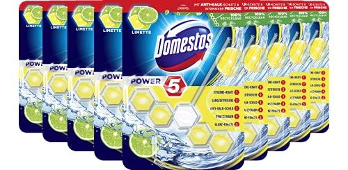 Domestos WC-Stein Power 5 Limette, 9er Pack(9 x 55 g)