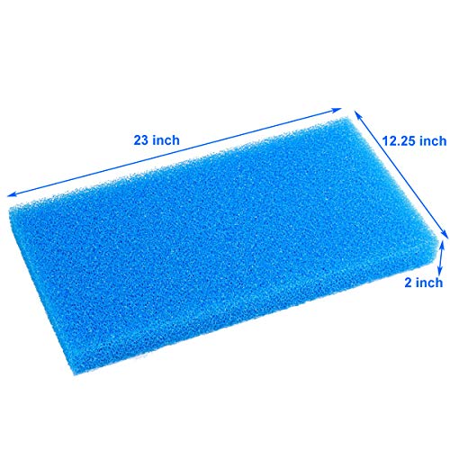 AQUANEAT Aquarium Open Cell Foam Sheet Bio Sponge Filter Media Pad HMF Fish Tank Sump Divider 23