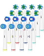 Replacement Toothbrush Heads for Braun Oral b, Compatible with Oral-B 7000/Pro 1000/9600/ 5000/3000/8000/Genius and Smart Electric Toothbrush, 16 Pcs