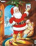 Larsen JUL1 Santa Claus en Nochebuena, Puzzle de Marco con 33 Piezas