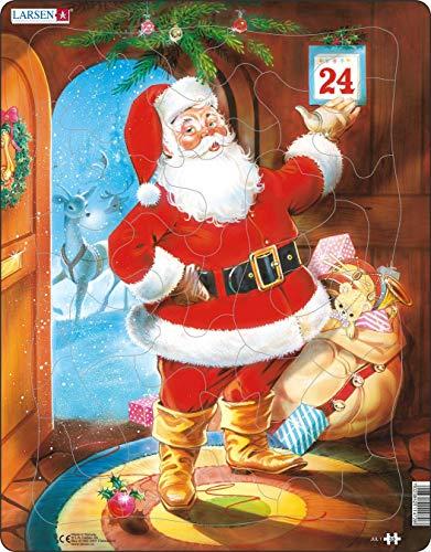 Larsen JUL1 Babbo Natale la vigilia di Natale, Puzzle Incorniciato con 33 Pezzi